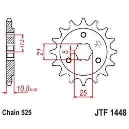 Piñón JTF1448-14