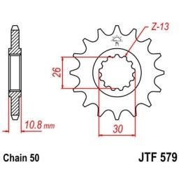 Piñón FZ1 (ecgoer medida)