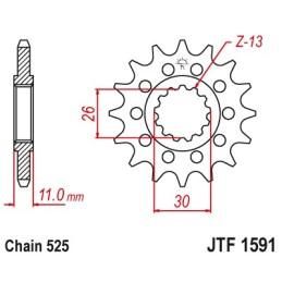 Piñón 15 dientes MT-07