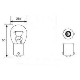 Lámpara P21W