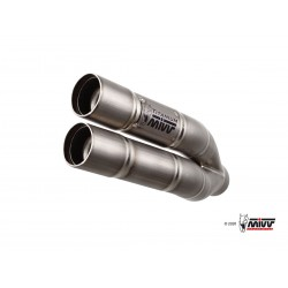SILENCIOSO MIVV DOUBLE GUN FULL TITANIUM para CBR 600 F del 2011 al 2013