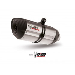 SILENCIOSO MIVV SUONO INOX carbon caps para F 650 GS del 2008 al 2012