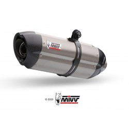 2 SILENCIOSOS MIVV SUONO FULL TITANIUM carbon caps para TUONO Fighter 1000 del 2006 al 2010