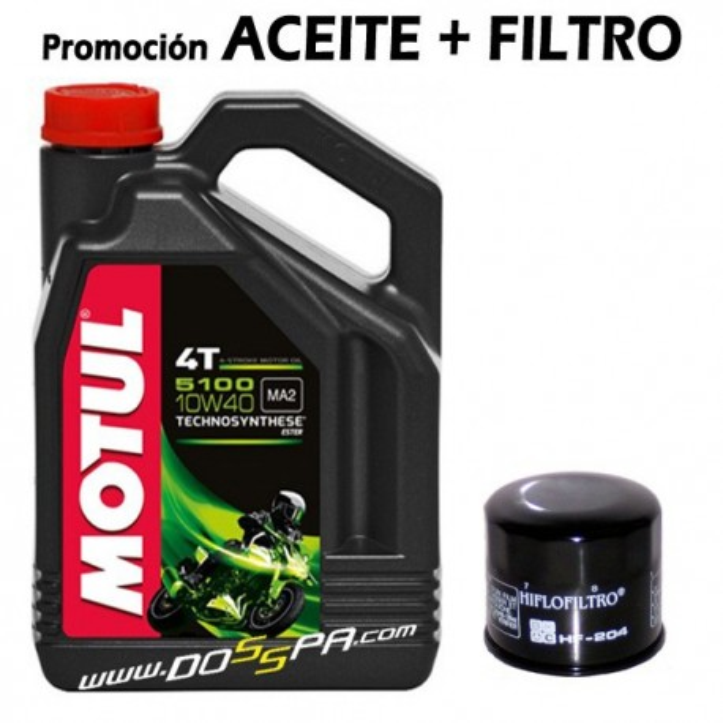 Motul 5100 + Filtro