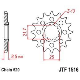 Piñón JTF1516 (elegir medida)